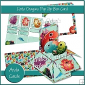 Little Dragons Pop Up Box Card
