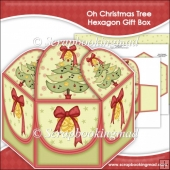 Oh Christmas Tree Hexagon Gift Box