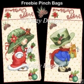 Cute Christmas Kids Pinch Bags - FREEBIE