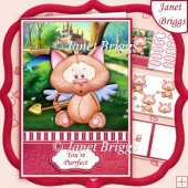 CUPID KITTY A5 Decoupage & Insert Kit