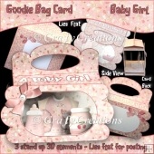 Baby Girl Goodie Bag Card