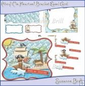 Ahoy! Me Hearties! Bracket Easel Card