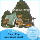 Camp Fire Decoupage Sheet