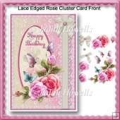 Lace Edged Rose Cluster Card Front