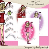 A5 Cards Sassy Christmas 1(Retiring in July)