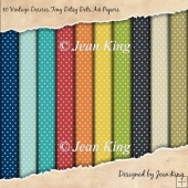 10 Vintage Desires Tiny Ditsy Dots A4 Papers
