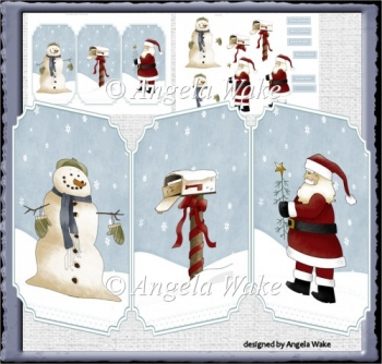 Christmas people trifold