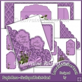 Purple Rose - Scalloped Pocket Card