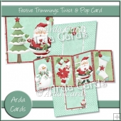 Festive Trimmings Twist & Pop Card