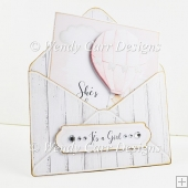 BABY GIRL ENVELOPE CARD