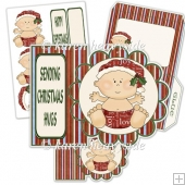 Baby's 1st Christmas Shaped Card