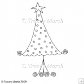 Christmas Tree 3 Clipart - Digital Stamp