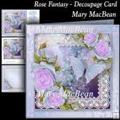 Rose Fantasy - Decoupage Card