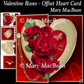 Valentine Roses - Offset Heart Card