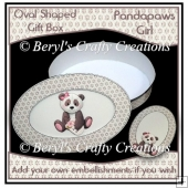 Oval Shaped Gift Box - Pandapaws (Girl)