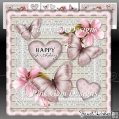 Pink Butterflies Mini Kit