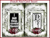 French Noel Card Insert
