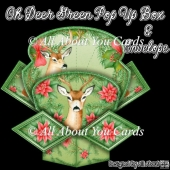 Oh Deer Green Pop Up Box Card & Envelope