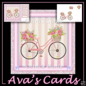 Bicycle Flowers Card