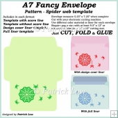 A7 Fancy Envelope – Pattern - Spider Web template