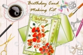 Watercolour Poppies Birthday Card