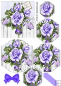 purple roses with butterflies bracket pyramids