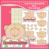 Cute Granddaughter Bear Decoupage Download