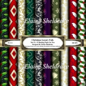 Luxury Christmas Foils - Set One - Ten Sheets Of 12 x 12 Papers