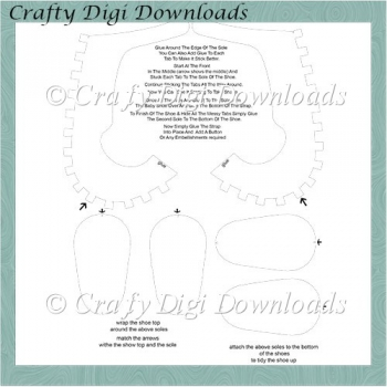 Baby Shoe Template Png And Jpeg 249 Instant Card Making Downloads
