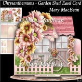 Chrysanthemums - Garden Shed Easel Card