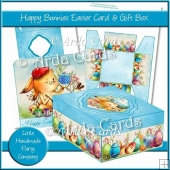 Happy Bunnies Easter Card & Gift Box