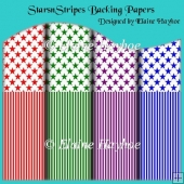 Stars n Stripes Backing Papers
