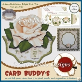 Cream Rose Wavy Edged Over The Top Card Kit