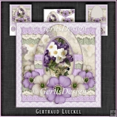 Vintage Romantic Lace Easter Egg Card Kit 1144