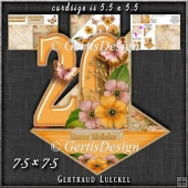 Vintage Easel 20th Birthday Card Kit 1184