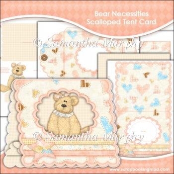 Bear Necessities Scalloped Tent Card