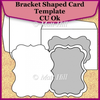 Bracket shaped card template commerical use ok for Card making templates free download