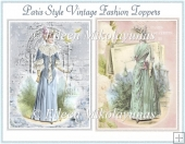Paris Style Vintage Fashion Toppers Set