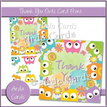 Thank You Owls Card Front