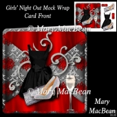 Girls' Night Out Mock Wrap Card Front