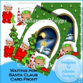 Waiting for Santa Claus Card Front