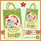 Santa Bear Set of 2 Gift Bags