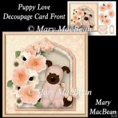 Puppy Love - Decoupage Card Front