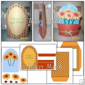 3D Sunflower Pot Card Set