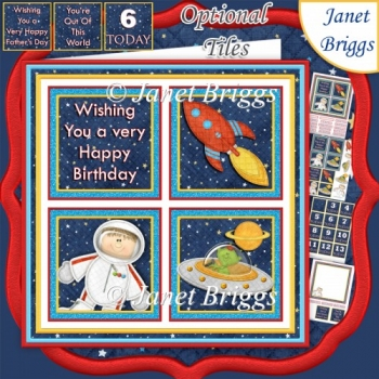 OUTER SPACE 7.5 Quick Layer Card with Ages Mini Kit