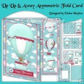 Up Up and Away Asymmetric Fold Card