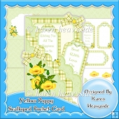 Yellow Poppy Scalloped Pocket Card