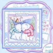 Polar Bear Love Christmas 8x8 Decoupage & Insert Kit