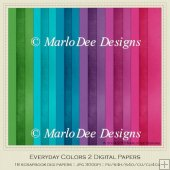 Everyday Colors 2 Cardstock Digital Papers Package
