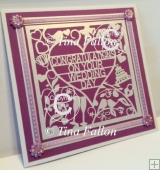 Congratulations on your wedding day card topper - cutting file